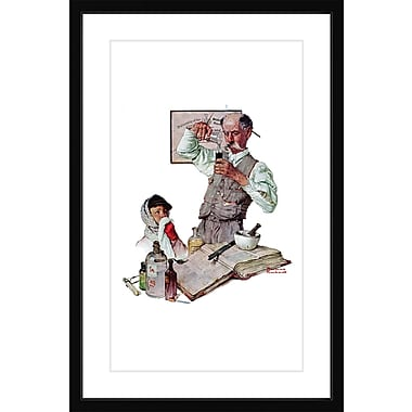 Marmont HIll 'Pharmacist' by Norman Rockwell Framed Painting Print; 24'' H x 16'' W x 1.5'' D