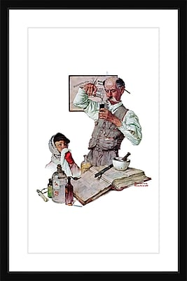 Marmont HIll 'Pharmacist' by Norman Rockwell Framed Painting Print; 36'' H x 24'' W x 1.5'' D
