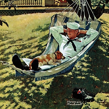 Marmont HIll 'On Leave' by Norman Rockwell Painting Print on Wrapped Canvas; 24'' H x 24' W