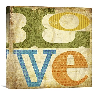Global Gallery Love by Suzanna Anna Graphic Art on Wrapped Canvas; 18'' H x 18'' W x 1.5'' D