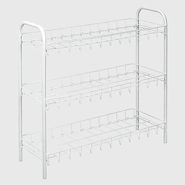 Metaltex 3-Tier 9 Pair Shoe Rack