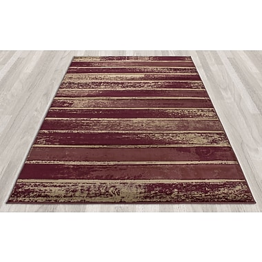 Ottomanson Regal Contemporary Abstract Red Area Rug; 7'10'' x 10'6''