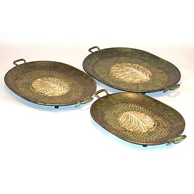 Firefly Home Collection Rustic Platter (Set of 3)