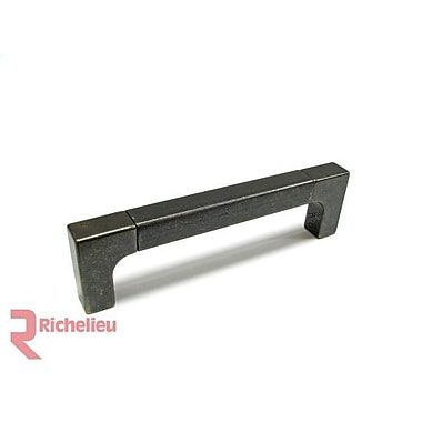 Richelieu 5'' Center Bar Pull; Matte Black Iron