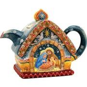 G Debrekht Nativity Teapot Ceramic Figurine