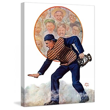 Marmont HIll Safe at the Plate by Alan Foster Painting Print on Wrapped Canvas