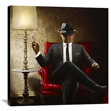 Global Gallery Black Tie by John Silver Painting Print on Canvas; 36'' H x 36'' W x 1.5'' D