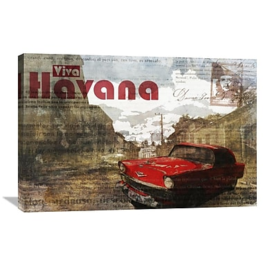Global Gallery Cuban Street I by Kay Daichi Graphic Art on Wrapped Canvas; 24'' H x 36'' W x 1.5'' D