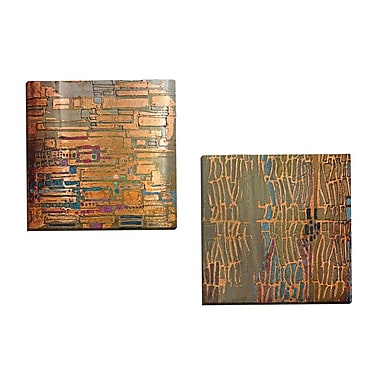 Portfolio Canvas Counter Glow I A by Douglas 2 Piece Painting Print on Wrapped Canvas Set
