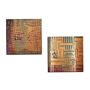 Portfolio Canvas Counter Glow I C by Douglas 2 Piece Painting Print on Wrapped Canvas Set
