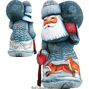 G Debrekht Masterpiece Delightful Foxy Santa Figurine