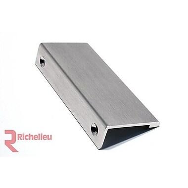 Richelieu 3 5/32'' Center Finger Pull; Stainless Steel