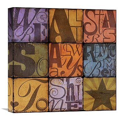Global Gallery Shine by Suzanna Anna Graphic Art on Wrapped Canvas; 18'' H x 18'' W x 1.5'' D