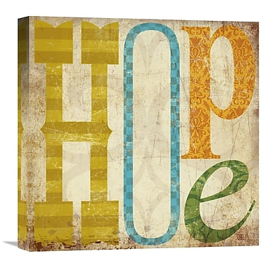 Global Gallery Hope by Suzanna Anna Graphic Art on Wrapped Canvas; 18'' H x 18'' W x 1.5'' D