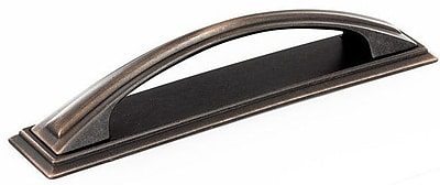 Richelieu 5 1/32'' Center Arch Pull; Brushed Oil-Rubbed Bronze