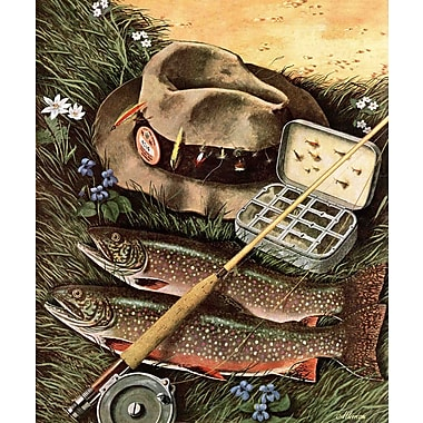Marmont HIll Fishing Still Life by John Atherton Painting Print on Wrapped Canvas
