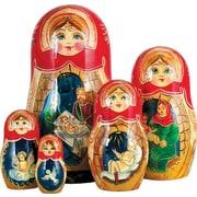 G Debrekht Russian 5 Piece Nativity Story Nested Doll Set