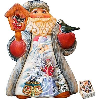 G Debrekht Derevo Mini Tale Illustrated Santa w/ Snowmaiden Figurine