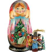 G Debrekht Russian Nutcracker Nested Doll Ornament Set