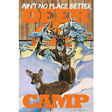 Marmont HIll Deer Camp by Saturday Evening Post Painting Print on Wrapped Canvas