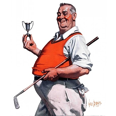 Marmont HIll Golf Trophy by George Brehm Painting Print on Wrapped Canvas; 48'' H x 40'' W x 1.5'' D