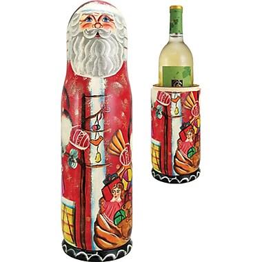 G Debrekht Russian Santa 1 Bottle Tabletop Wine Bottle Box