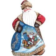 G Debrekht Masterpiece Downhill Dancing Santa Figurine