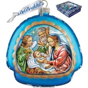 G Debrekht Holiday Limited Edition Nativity Rainbow Glass Ornament