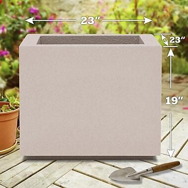 Poly-Stone Planters Milan 100pct solid Polyurea Planter Box; White