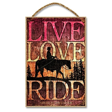 AmericanExpedition 'Live, Love, Ride' Vintage Advertisment Plaque