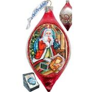 G Debrekht Holiday Christmas Night Glass Ornament