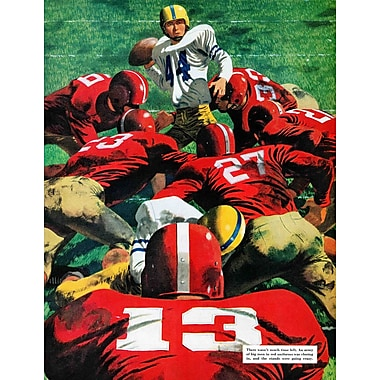 Marmont HIll Touchdown Play by Fred Ludekens Painting Print on Wrapped Canvas