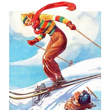 Marmont HIll Ski Jump by V.A. Svoboda Painting Print on Wrapped Canvas; 29'' H x 24'' W x 1.5'' D