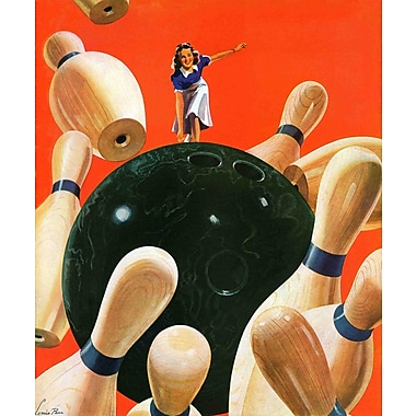Marmont HIll Bowling Strike by Lonie Bee Painting Print on Wrapped Canvas; 48'' H x 40'' W x 1.5'' D