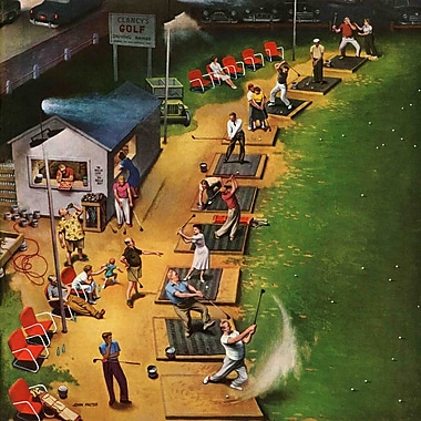 Marmont HIll Golf Driving Range by John Falter Painting Print on Wrapped Canvas