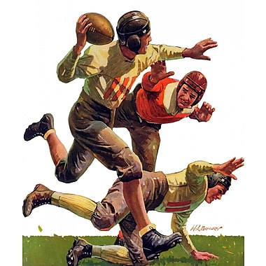 Marmont HIll Quarterback Pass by Maurice Bower Painting Print on Wrapped Canvas