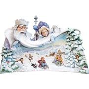 G Debrekht Masterpiece Signature Polar Bear Santa Composition of 3 on Base Figurine
