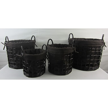Firefly Home Collection 4 Piece Storage Basket Set