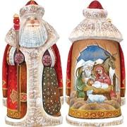 G Debrekht Masterpiece Signature Blessed Birth Santa Figurine