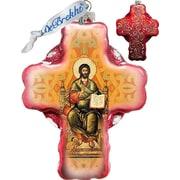 G Debrekht Holiday Jesus Cross Glass Ornament
