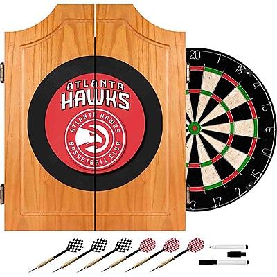Trademark Global® Solid Pine Dart Cabinet Set, Atlanta Hawks NBA