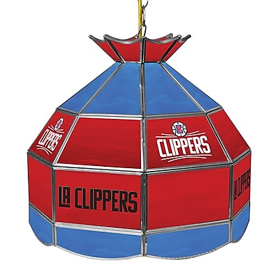 "Trademark Global® 16"" Tiffany Lamp, Los Angeles Clippers NBA"