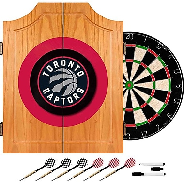 Trademark Global® Solid Pine Dart Cabinet Set, Toronto Raptors NBA
