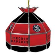 "Trademark Global® 16"" Tiffany Lamp, Toronto Raptors NBA"