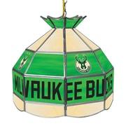 "Trademark Global® 16"" Tiffany Lamp, Milwaukee Bucks NBA"