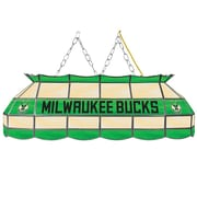 "Trademark Global® 40"" Tiffany Lamp, Milwaukee Bucks NBA, Green/Red"