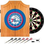 Trademark Global® Solid Pine Dart Cabinet Set, Philadelphia 76ers NBA