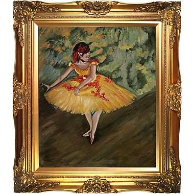 Tori Home Degas Dancer Making Points Framed Painting