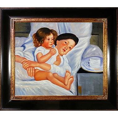 Tori Home Cassatt Breakfast in Bed Framed Painting