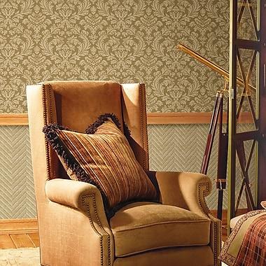Brewster Home Fashions Joseph Abboud Designed Damask Grasscloth Wallpaper